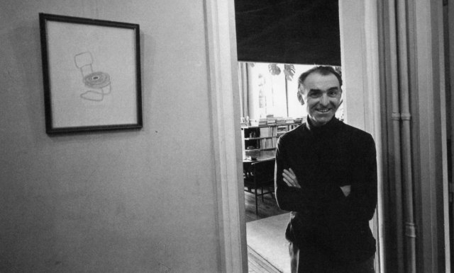 Robert Doisneau at home, 46 Place Jules Ferry, 1968. Photo: Arnold Crane.