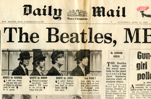 Beatles MBE Daily Mail009