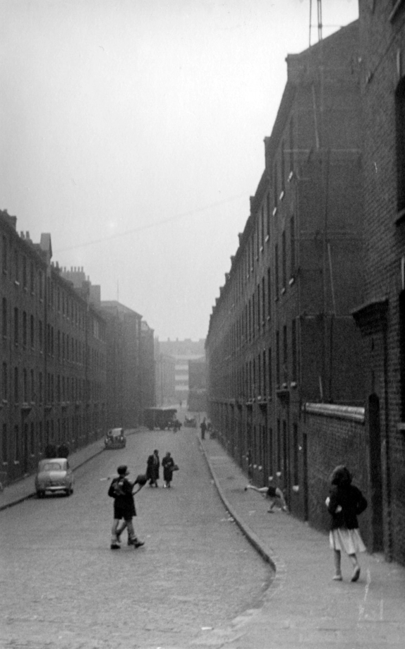 """""""Juniper Street, facing west, from near the corner of Glamis Road."""" - CW."""
