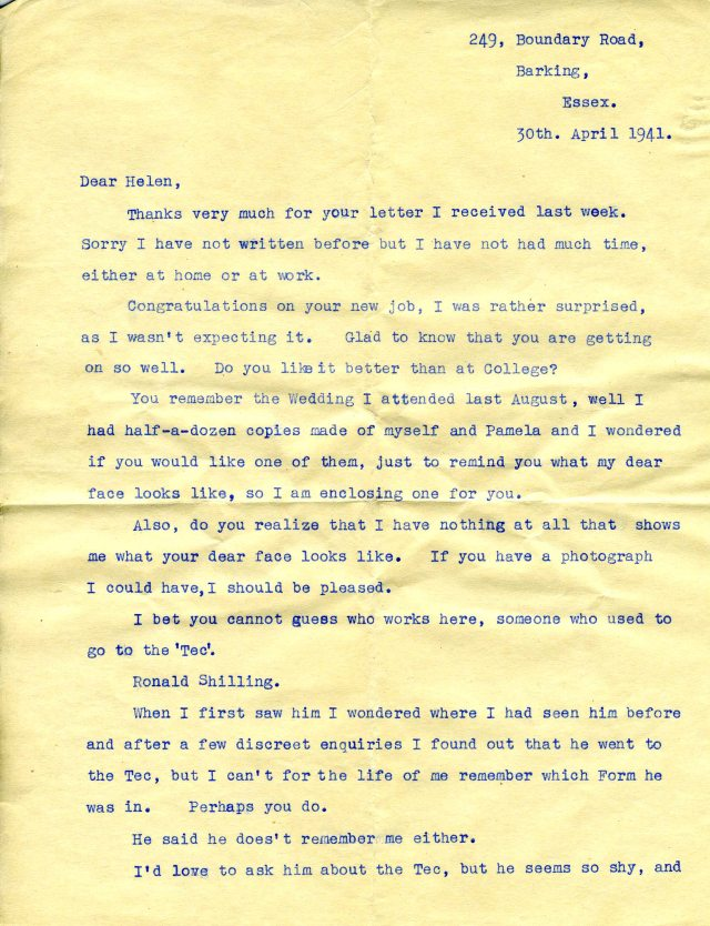 6.Joan Garnett - 2nd letter to Helen.Photo referred to, 3rd para. down is item no.7jpg copy