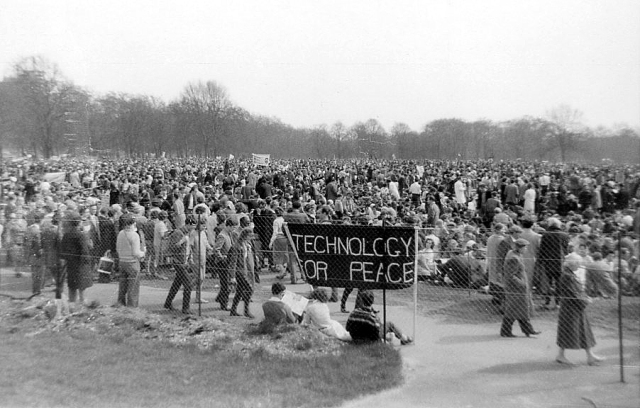 Aldermaston March conclusion: London Hyde Park, 1962.  Photo: Pete Grafton