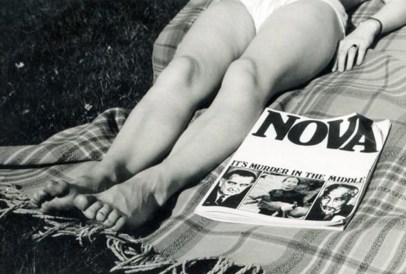 Nova magazine. Garden, 50 Cole Park Road. Late Spring - early Summer, 1966.