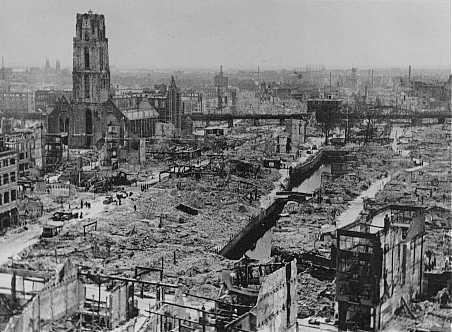 Rotterdam bombed