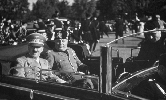 mussolini and hitler in florence